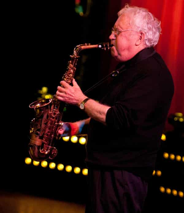 Lee Konitz on stage during the London jazz festival, 2013.
