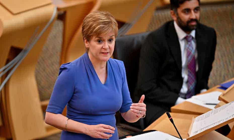 """Nicola Sturgeon, the Scottish first minister, updates MSPs ahead of the proposed """"vaccine passport"""" requirement for nightclubs and large events."""