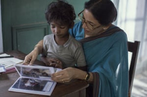 True story … Sunny Pawar and Deepti Naval in Lion.