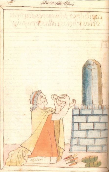 A depiction of saywas from a 16th-century Quechua-Spanish dictionary.