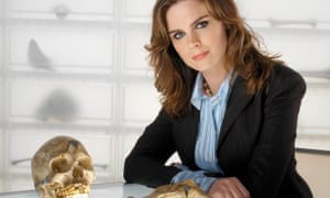 Emily Deschanel as Dr Temperence Brennan in the TV series Bones.