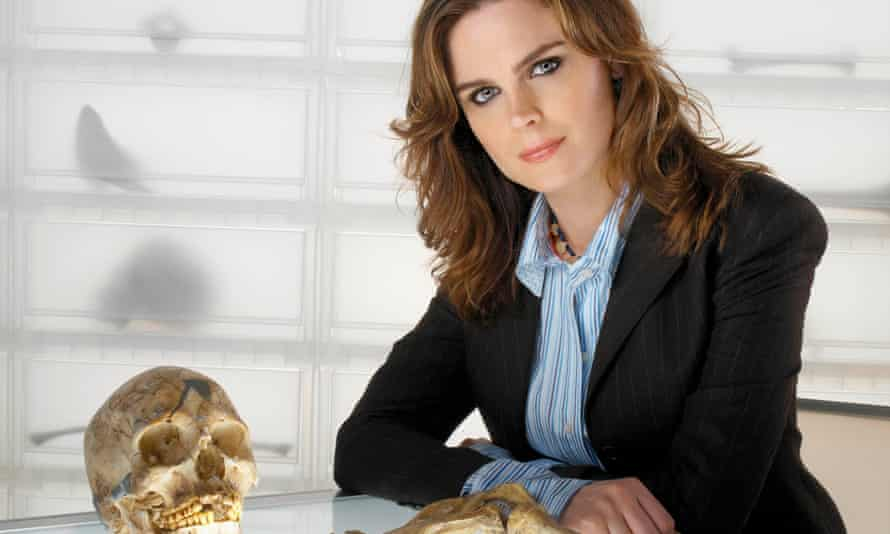 Emily Deschanel as Dr Temperence Brennan in the TV series Bones.