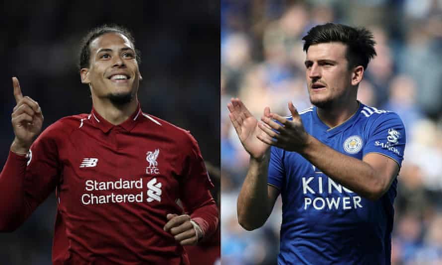 Harry Maguire replaces Virgil van Dijk as the world's most expensive defender