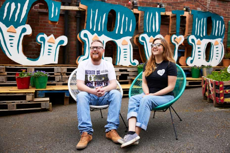 Jules and Jason Bailey who run GRUB, a Manchester street food venue.