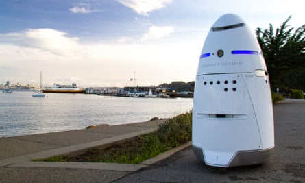 A Knightscope K5 security robot. The autonomous robots have an array of sensors used to monitor the surrounding environment, but researchers argue that an 'ethical black box' should also be installed.