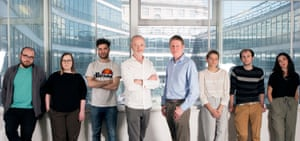 Members of InFacts, Healthier IN the EU, the European Movement, Our Future, Our Choice and Open Britain at their shared offices in Millbank Tower. From left: Rob Davidson, Aurora Lyngstad, Hugo Mann, Hugo Dixon,  James MacCleary, Lara Spirit, Alex Clifford and Rachel Franklin