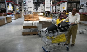 Customers experience the new IKEA store.