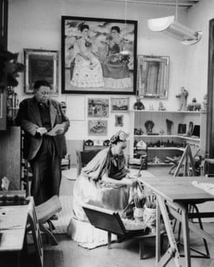 Diego Rivera and Frid Kahlo circa 1945.