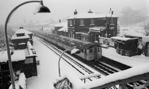 A Central line train at Epping station in March 1970.