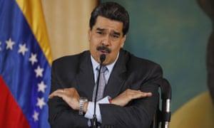 Nicolás Maduro speaks during a press conference in Caracas, Venezuela, on 30 September.