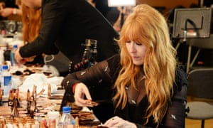 Charlotte Tilbury at the Versus Versace show.