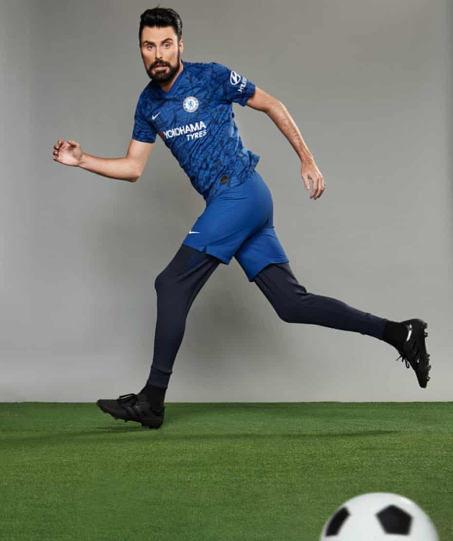 TV star Rylan Clark-Neal dressed as footballer Olivier Giroud