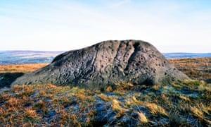 The Badger Stone, Ilkley Moor, UK.
