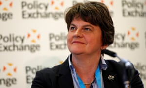 Arlene Foster speaking at a Policy Exchange fringe meeting.