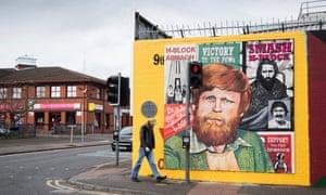 Murals in the Falls Road area of west Belfast.