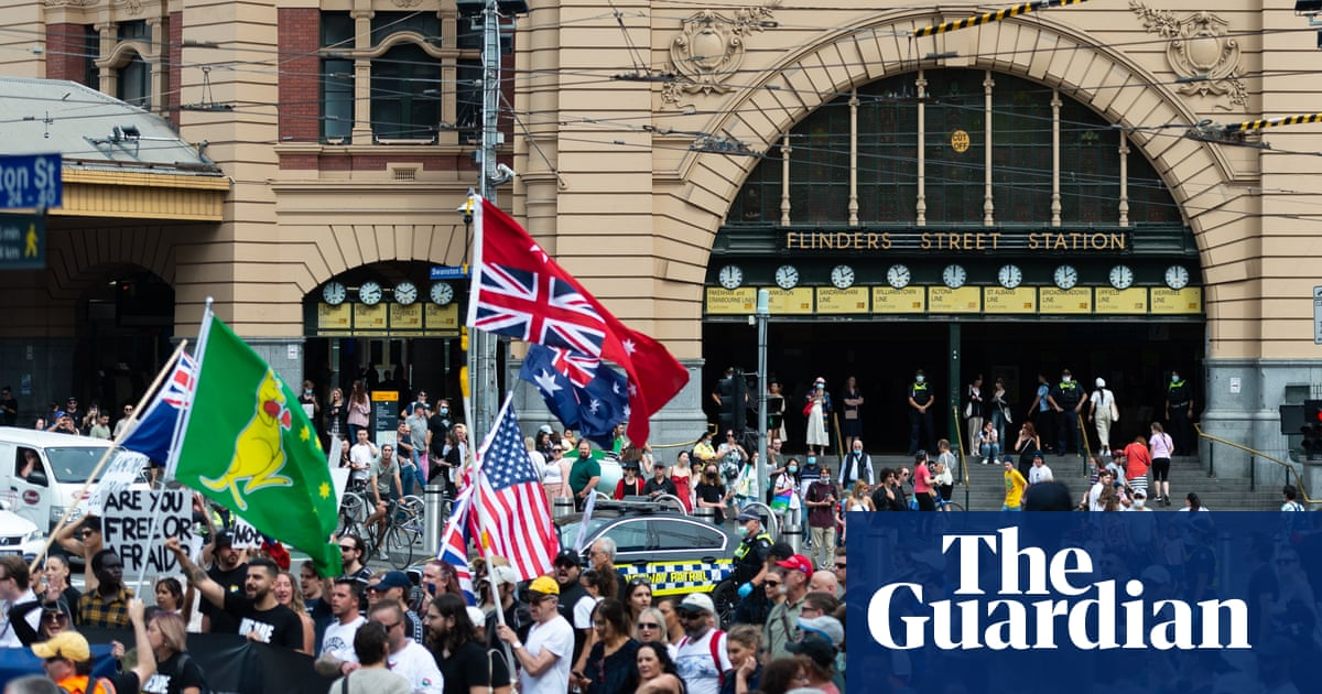 Where 'freedom' meets the far right: the hate messages infiltrating Australian anti-lockdown protests