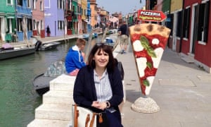 Kate Osborn in Venice prior to the pandemic.
