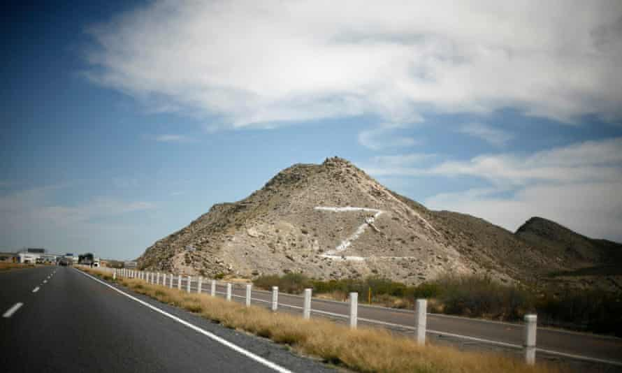 """The letter Z""""is seen painted on a hill next to the toll booth at the freeway between Monterrey and Torreón, in the Mexican state of Coahuila in March 2010. The Z refers to the Zetas drug cartel."""