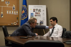 John O'Neill (Jeff Daniels) and Ali Soufan (Tahar Rahim) in The Looming Tower