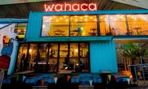 A Wahaca restaurant on the South Bank, London