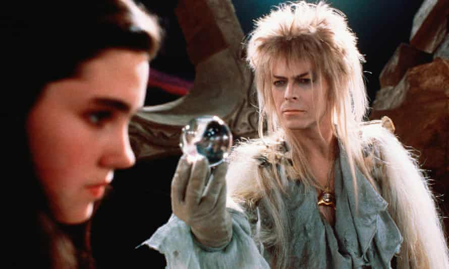 David Bowie as the Goblin King with a 15-year-old Jennifer Connelly in the 1986 film Labyrinth.