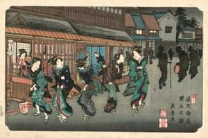 Fukaya Station, 1835 (Eisen, plate 10)
