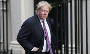 The foreign secretary, Boris Johnson, arrives for a cabinet meeting at 10 Downing Street.