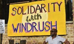 Protest in Windrush Square