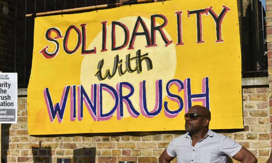 Protest in Windrush Square