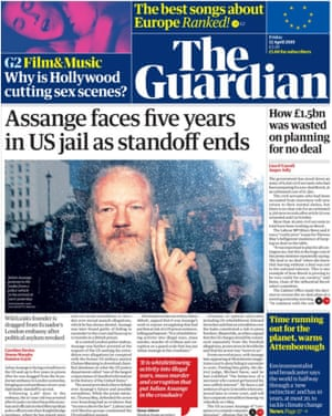 Guardian front page 120419