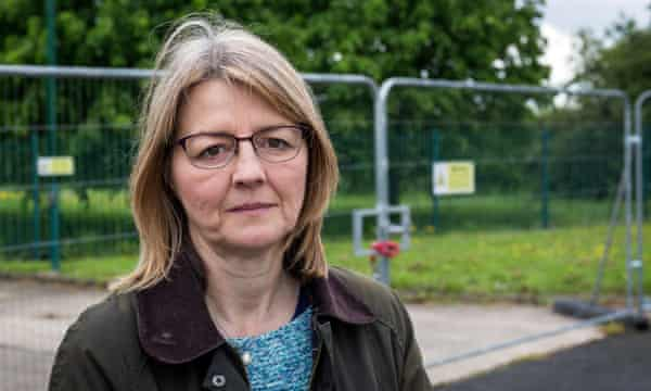 Jayne Watson outside the proposed fracking site near Misson.