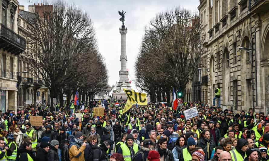 Gilets jaunes protesters in Bordeaux, 12 Janunary 2019.