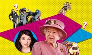 The Queen, Kate Bush, Cuthbert the Caterpillar, a giraffe and French adventurers