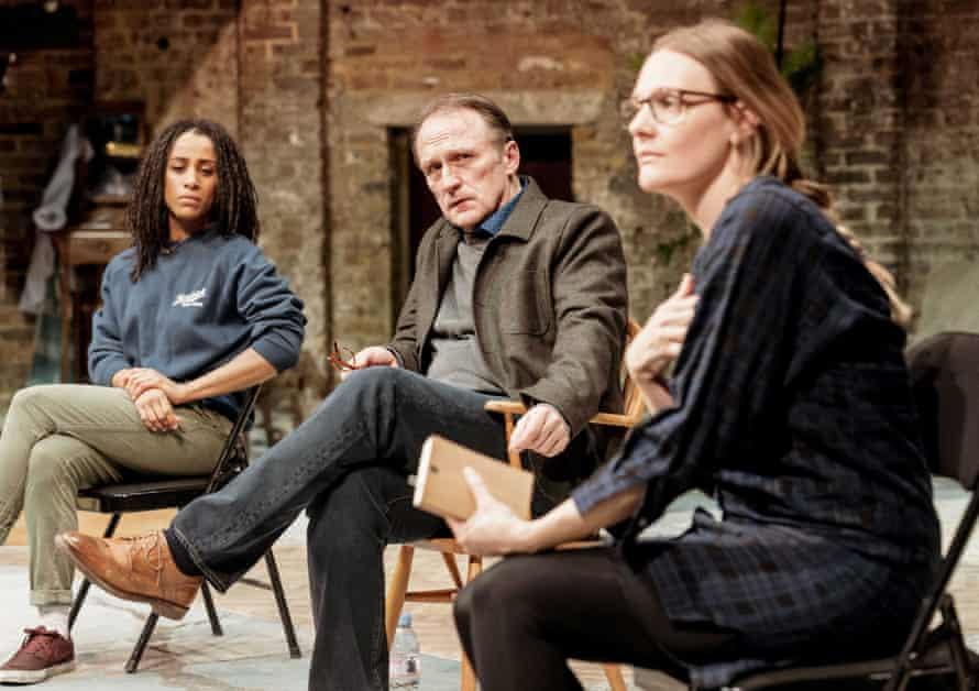Lara Rossi, Michael Gould and Romola Garai in The Writer.