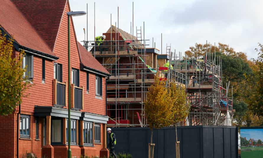 New-build homes under construction