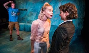 Sharp dialogue … Joe Bannister (Jim), Amy Lennox (Pocahontas) and Ruby Bentall (Ramona).
