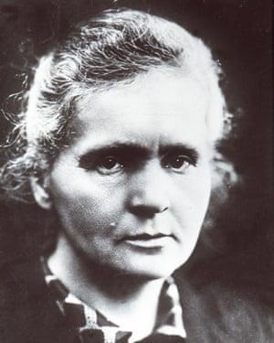 Nobel Prize-winning scientist Marie Curie.