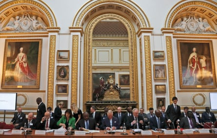 The Prince of Wales hosted a conference on deforestation at Lancaster House in London.