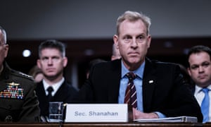 Patrick Shanahan testifies before the United States Senate committee on armed services, 11 April 2019.