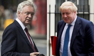 David Davis (left) and Boris Johnson