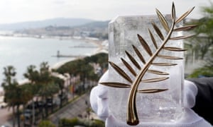 The Palme d'Or, the highest prize awarded to competing films at the Cannes film festival.