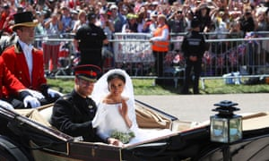 Prince Harry and Meghan after their wedding in Windsor