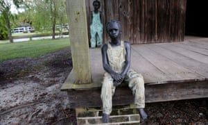 """two of the 40 statues titled """"Children of Whitney"""""""