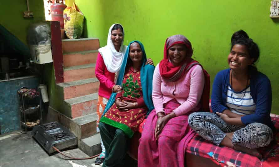 Komal Hadala (left) with her grandmother, mother-in-law and sister-in-law