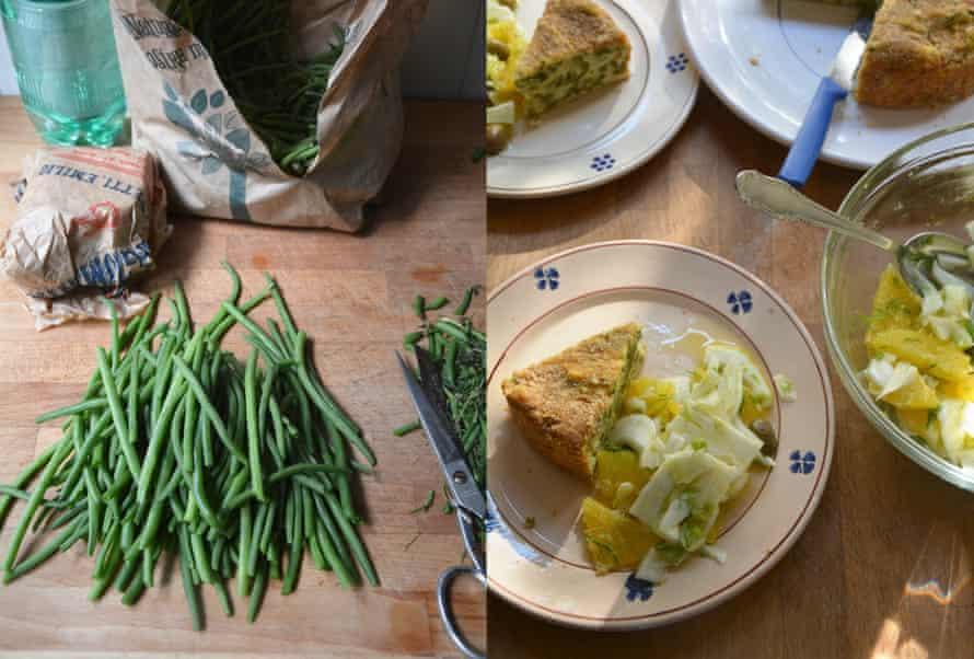 Rachel Roddy's green bean and potato bake