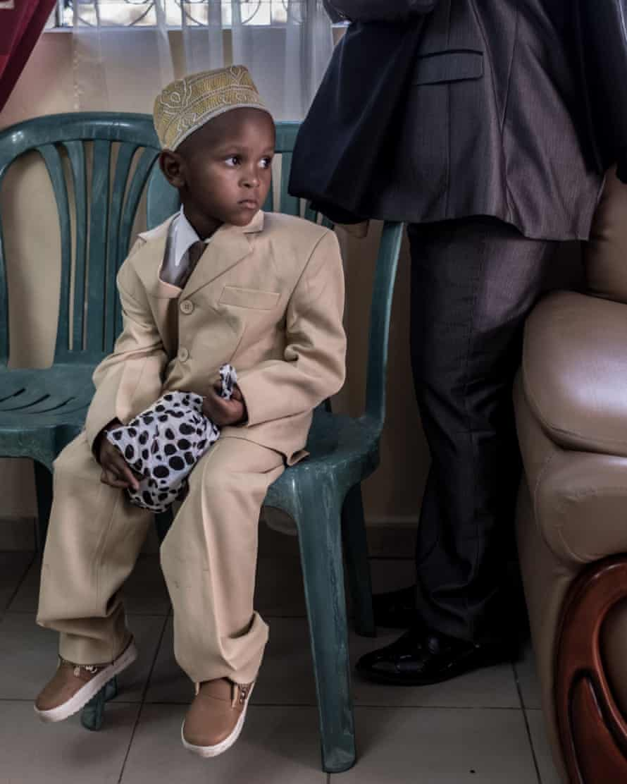 A young wedding guest