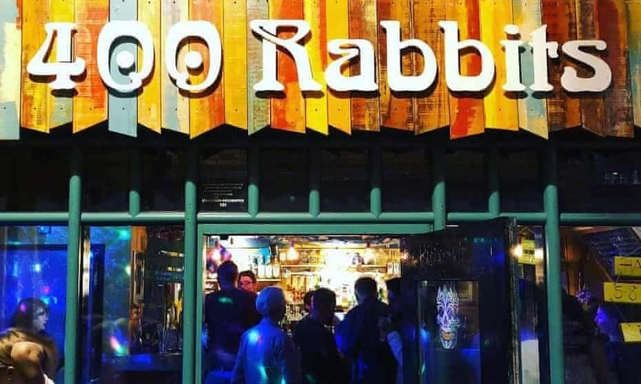 400 Rabbits tequila bar in Nottingham.
