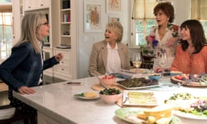 Page turner: starring in Book Club with Diane Keaton, Candice Bergen and Mary Steenburgen.