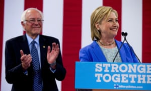 Since Sanders endorsed Clinton on 12 July – as he did at this rally, pictured – the full focus of the Clinton campaign has swung to Trump.