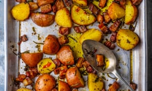 Salty, savoury and satisfying: potatoes and pork.
